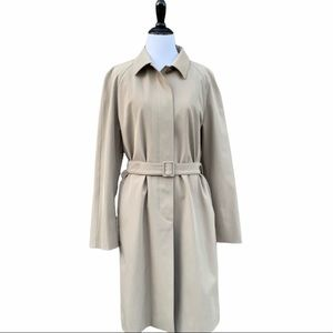 S Max Mara Neutral Beige Classic Belted Trench 12